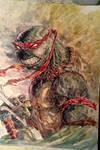 Raphael - TMNT - Watercolor by dreamflux1