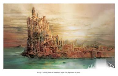 Kings Landing Watercolor - Game of Thrones print by dreamflux1