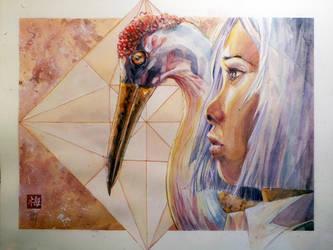 Sadako Sasaki - Watercolor by dreamflux1