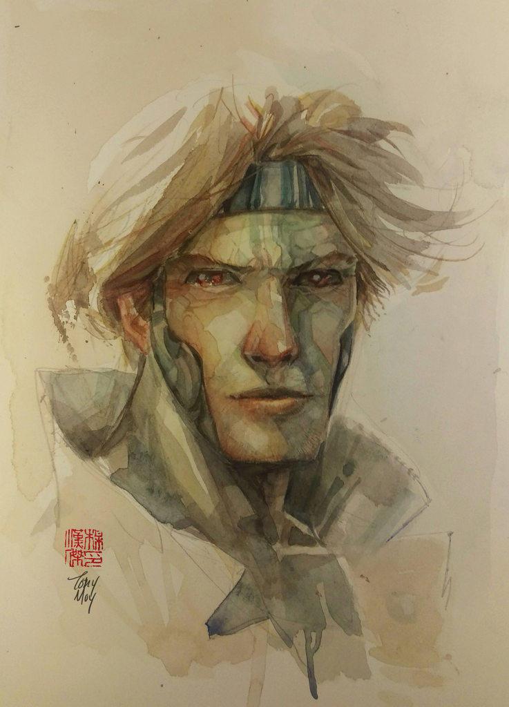 Gambit Watercolor by dreamflux1