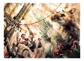 The Last Guardian - Watercolor by dreamflux1