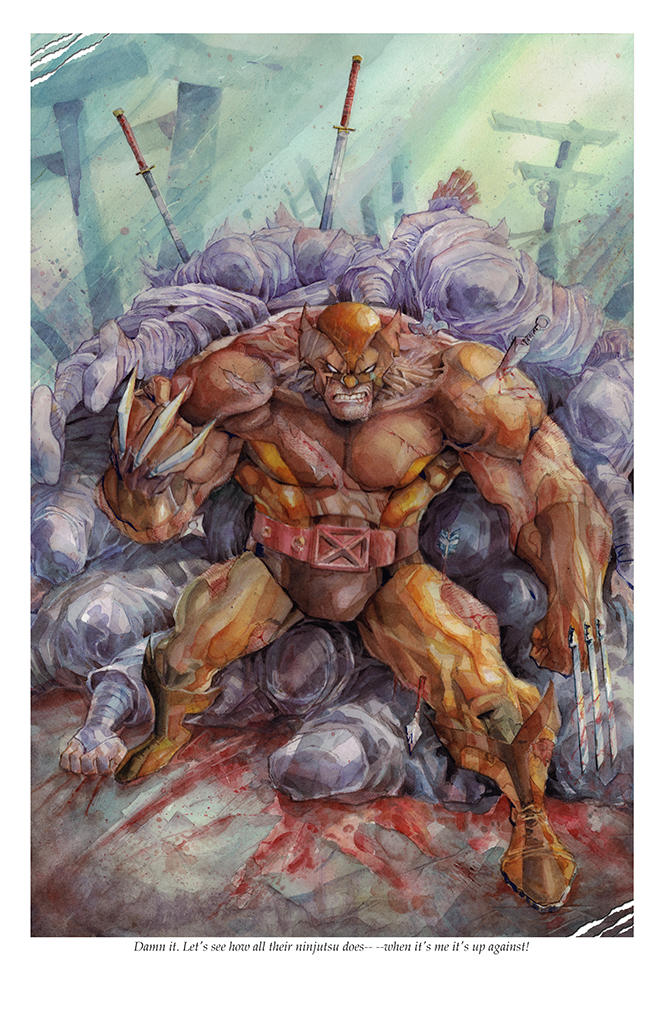 Snikt - Wolverine vs Ninjas by dreamflux1