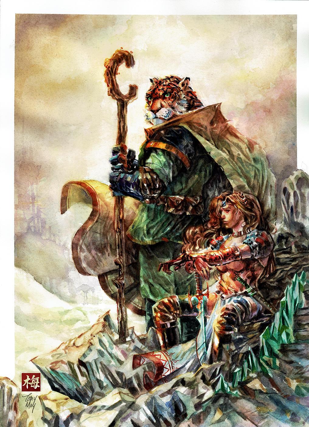 Tellos - Fantasy Watercolor by dreamflux1
