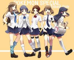 Pokemon School Girls by TwannyBizzle