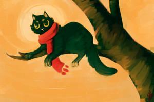 Tree Kitty by Urswurs