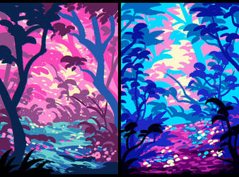 Pink/Blue/Yellow by Urswurs