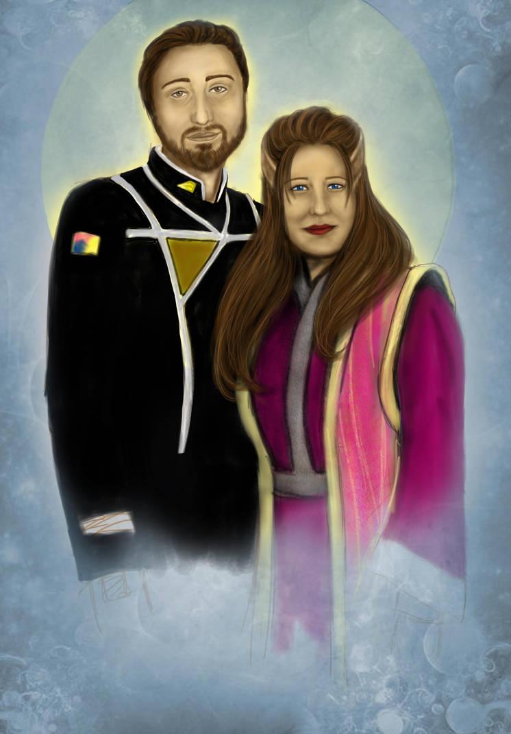 Carola and me Babylon 5 style by NeroonCousland