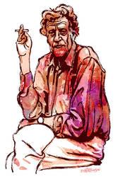 Kurt Vonnegut by wooden-horse