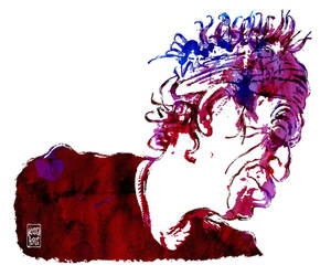 Keith Richards - Profile Sketch by wooden-horse