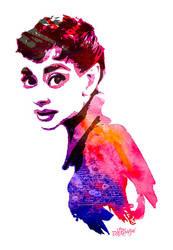 Audrey Hepburn by wooden-horse