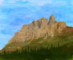 Castle Mountain No. 2 by wooden-horse