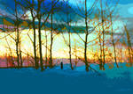 Winter Trees At Sunset No. 2 by wooden-horse