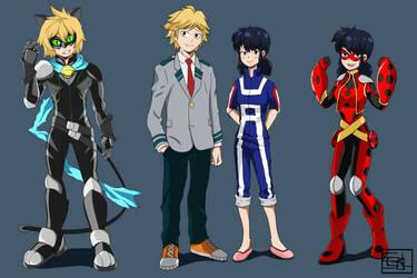 Miraculous Hero Academia by SEGLDRAWS