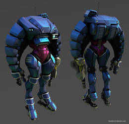 Mech armor suit lowpoly by Pyroxene