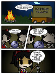 [4koma] Walfas ~ Fortune Telling by gervin51