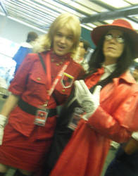 Seras Victoria and Alucard by WickedTwist