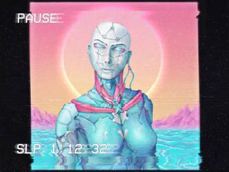 Vapor Wave --Cyborg-- by SUNSHINE1617