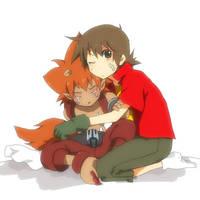 takuya and flamon by izumi07