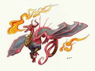 'I Can Breath Fire' says the Dragon by Kiki-Tayler