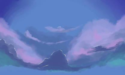Practice piece - sky by Shiioko