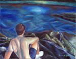 Un homme a l'ocean by Sketchee