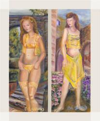 Myrrhine and Kalonike by Sketchee