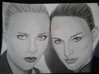 Scatlett Johansson and Natalie Portman by BrenGun