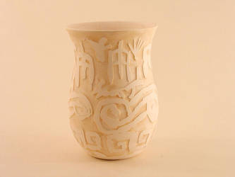 Shellac Beaker with stain by M-A-Ceramics