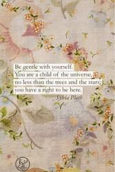 Sylvia Plath Quote Phone Wallpaper by Ms-Chutkus