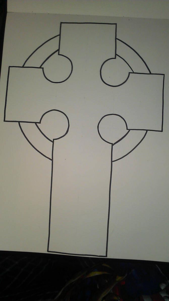 Celtic Cross Template By WynterborneInk