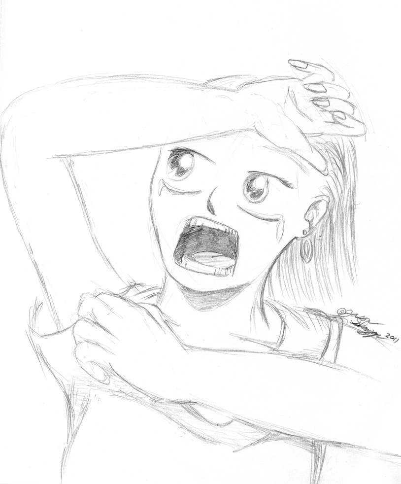 Screaming by marr0w