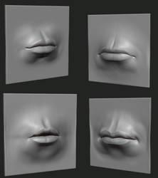 Quick Lip Studies by GrevSev