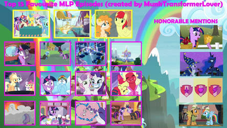 Top 15 Favorite Episodes in MLP FiM by XaldinWolfgang
