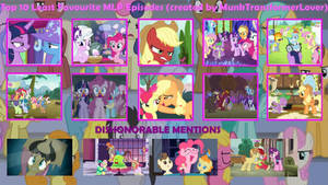Top 10 Least Favoirte Episodes of MLP FiM by XaldinWolfgang
