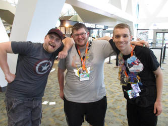 Meeting Joshscorcher,Science-SteelRail at BronyCon by XaldinWolfgang