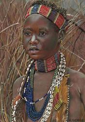 ETHNIC :Young Hamar girl (Ethiopia) by HendrikHermans
