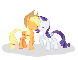 .COMM. Applejack X Rarity by Phillyphia
