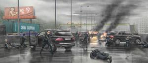 Tom Clancy's Threat Vector - Death of General Su by BurenErdene