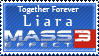 Liara Mass Effect 3 stamp by appleofecstacy