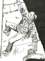 WSC 9.6-7.14 Inking Indiana Jones by CrazedClairebear