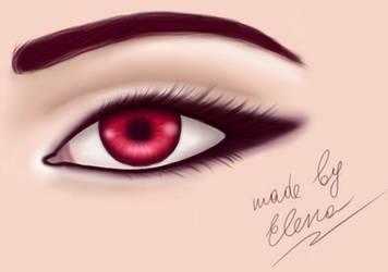 Wine Red Eye by elen21nele