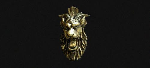 Lion head Decoration by Ravihara-Weerathunge