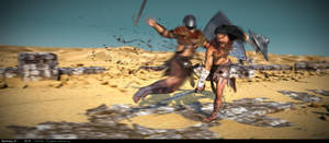 Insane Warrior by Ravihara-Weerathunge