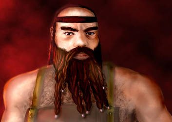 A Dwarven Blacksmith by jekaa