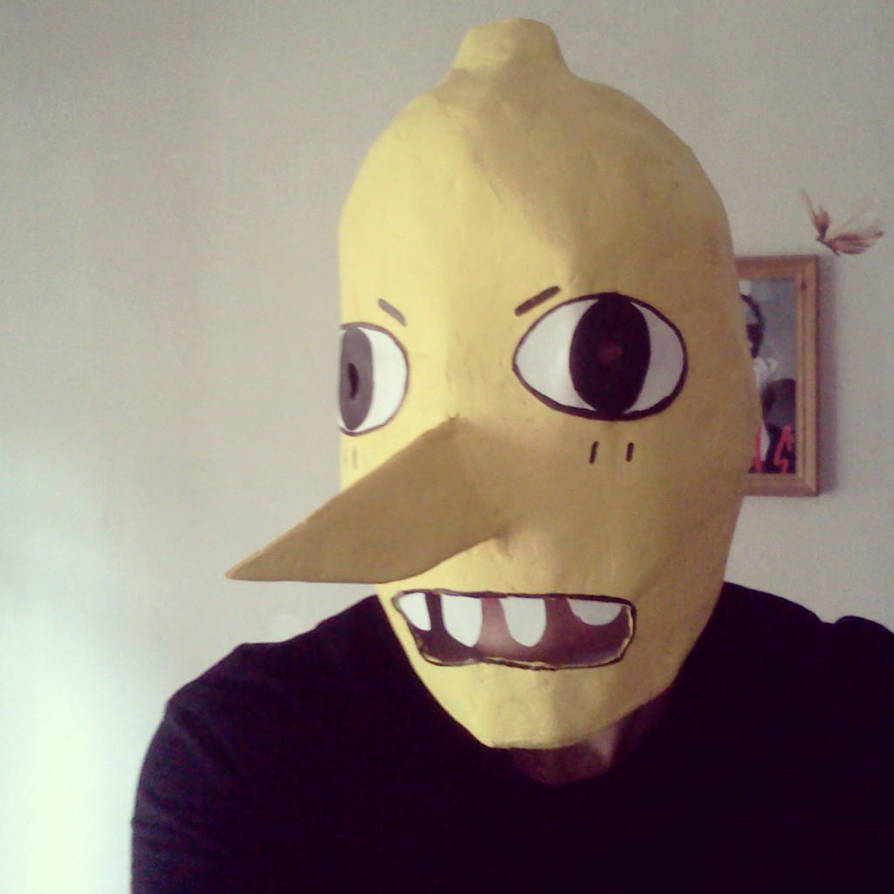 Lemongrab Mask By Cherryrocket On Deviantart