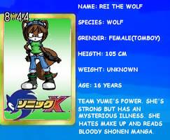 Rei the wolf by Reinohikari