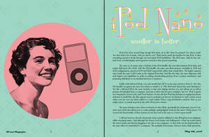 ipod magazine _ spread 1 by xshepaintstheskyx