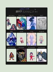 .:Art Summary 2017:. by veri119