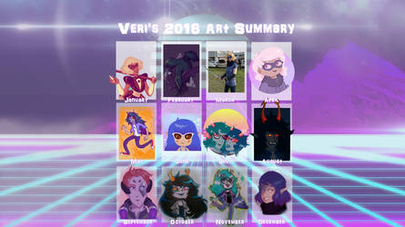 .:2018 Art Summary:. by veri119