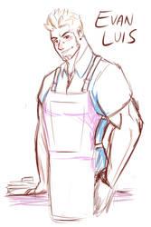 OC: Evan Luis sketch by snolbingers